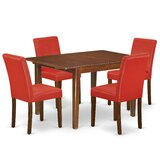 Zuehlke 5 Piece Extendable Solid Wood Dining Set by Winston Porter