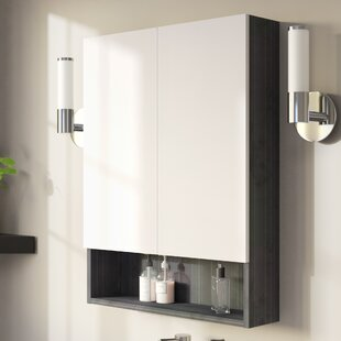 Reviews Maryalice Modern 23.5 W x 31 H Wood Surface Mount Medicine Cabinet By Royal Purple Bath Kitchen