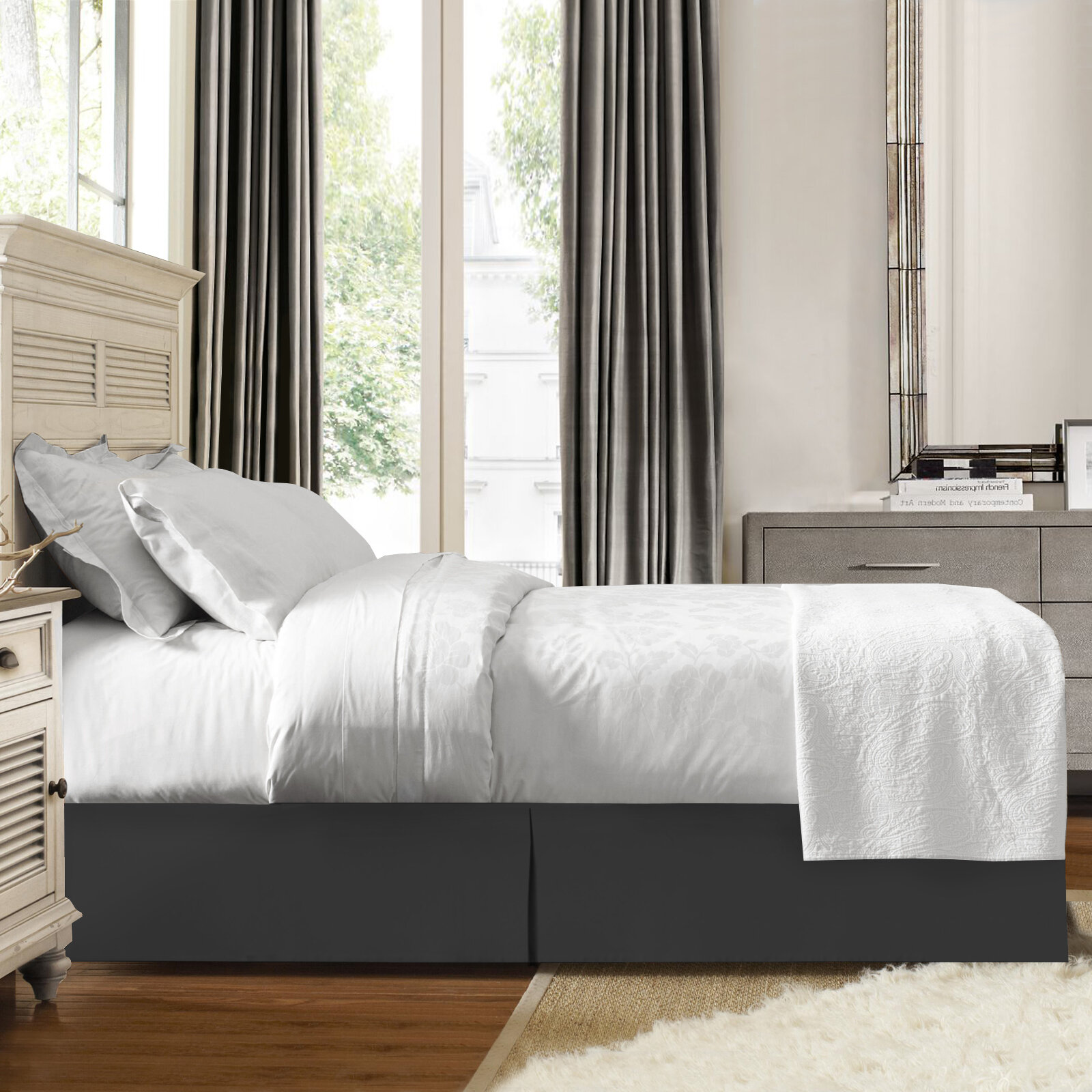 Gray Silver Bed Skirts Free Shipping Over 35 Wayfair