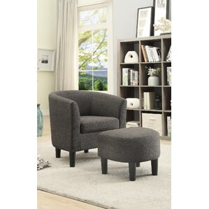 Petree Barrel Chair and Ottoman by Latitude ..