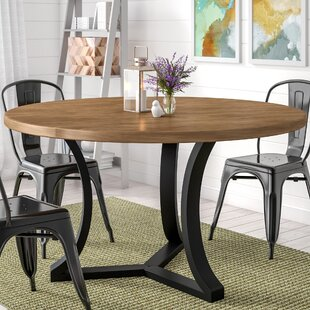 Gracie Oaks Louisa Solid Wood Dining Table