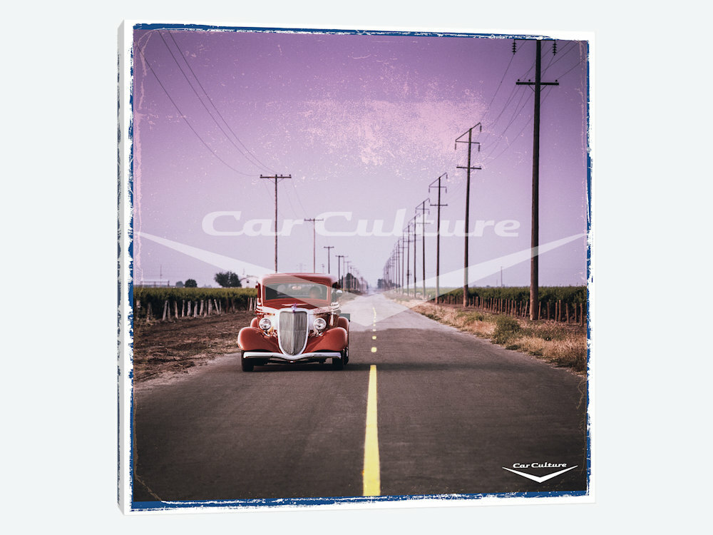 East Urban Home 1934 Ford Coupe Hot Rod Graphic Art Print On Canvas Wayfair