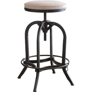 Emily Adjustable Height Swivel Bar Stool by Laurel Foundry Modern Farmhouse