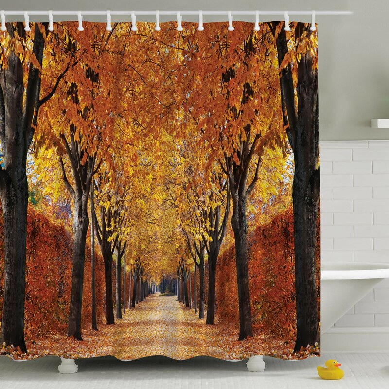 Ambesonne Fall Perspective Print Shower Curtain & Reviews   Wayfair