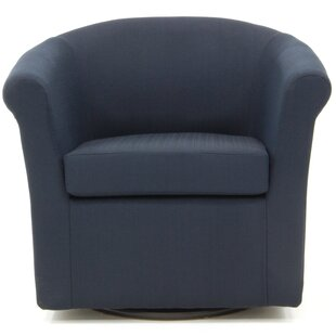 Moldenhauer Swivel Barrel Chair by Ebern Designs