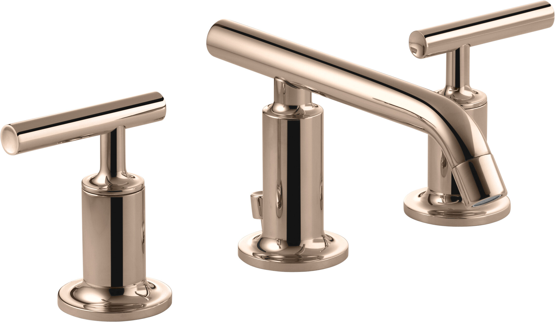 Kohler Purist Widespread Bathroom Sink Faucet With Low Lever Handles And Low Spout Wayfair