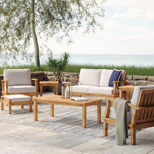 Elaina 7 Piece Teak Sofa Set with Cushions