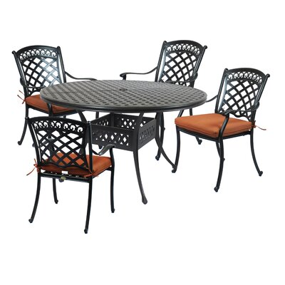 St. Tropez Round Dining Table by Canora Grey Wonderful