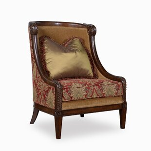 Astoria Grand Coven Carved Wood Wingback Chair