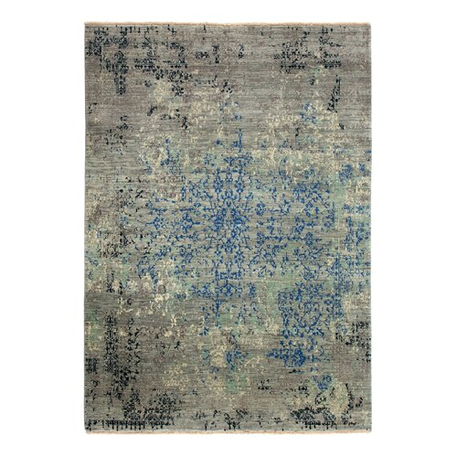 Andish Hand-Knotted Wool Grey Rug Williston Forge Rug size: