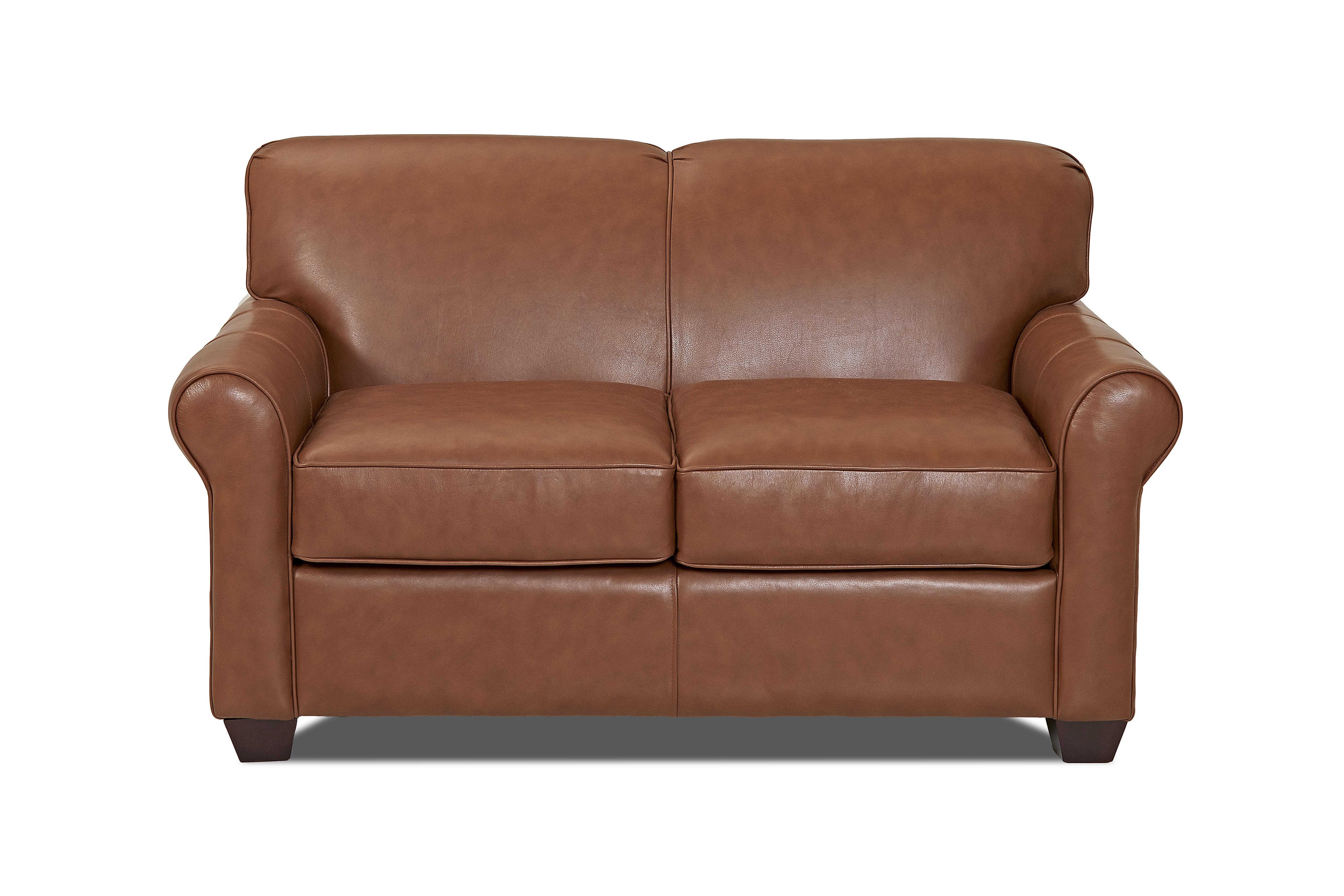 Wayfair Custom Upholstery™ Jennifer Leather Loveseat & Reviews | Wayfair