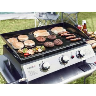Portable Propane Griddle Grill With Triple Burner Stove by Royal Gourmet Corp