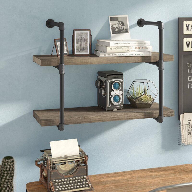 Wyndham 2 Pipe Wall Shelf