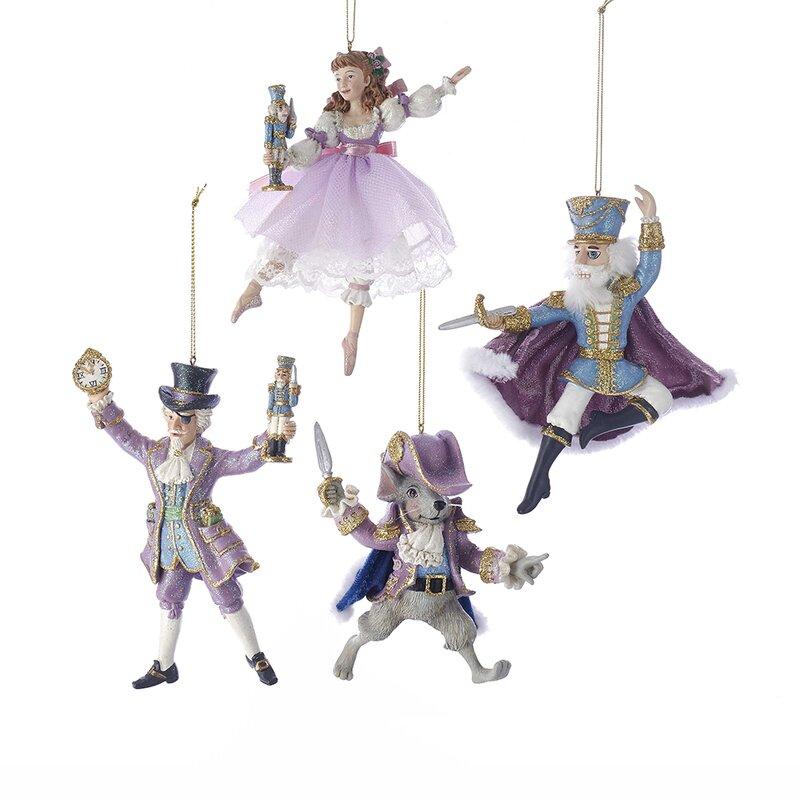 Clara Ballerina Nutcracker Suite 5 Inch Resin Hanging Christmas Ornament Figurine