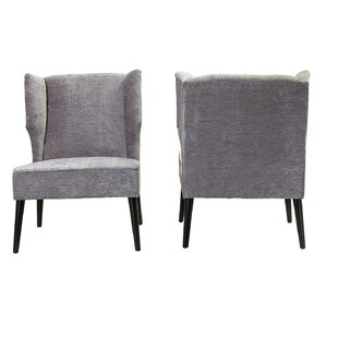 Inexpensive Lavaca Wingback Chair (Set of 2) by House of Hampton Reviews (2019) & Buyer's Guide