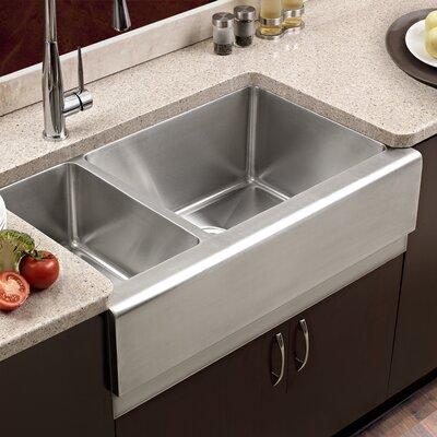 epicure 32 88   x 20   farmhouse double bowl 70 30 kitchen sink houzer epicure 32 88   x 20   farmhouse double bowl 70 30 kitchen      rh   wayfair com