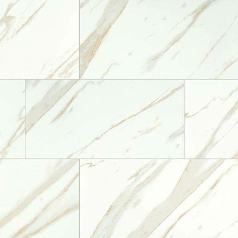 Msi Calacatta 12 X 24 Porcelain Field Tile In White Reviews