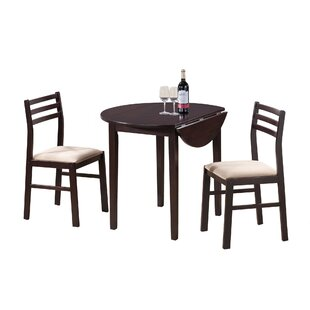 Glenda 3 Piece Drop Leaf Dining Set Winston Porter