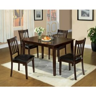 Tindall 5 Piece Solid Wood Dining Set