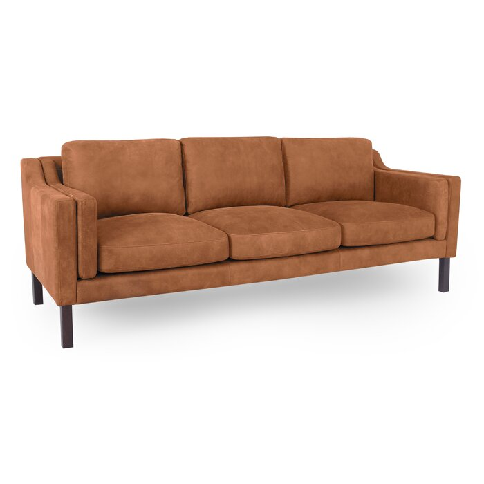Rolando Mid-Century Leather Sofa