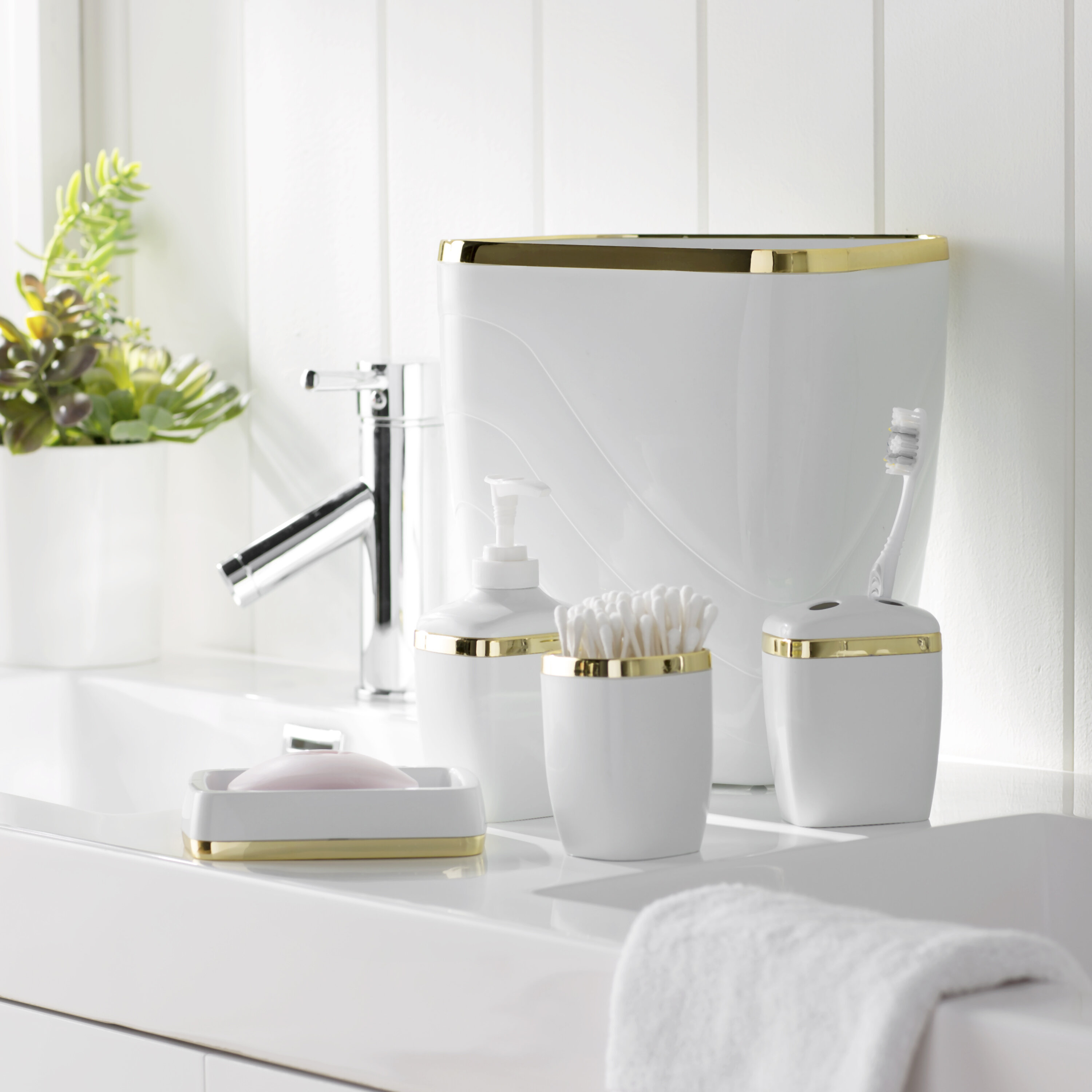 Wayfair Basics™ Wayfair Basics Bathroom Accessory Set & Reviews ...