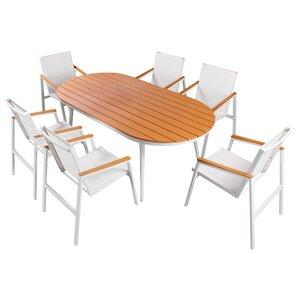 busch 7 piece sail dining set
