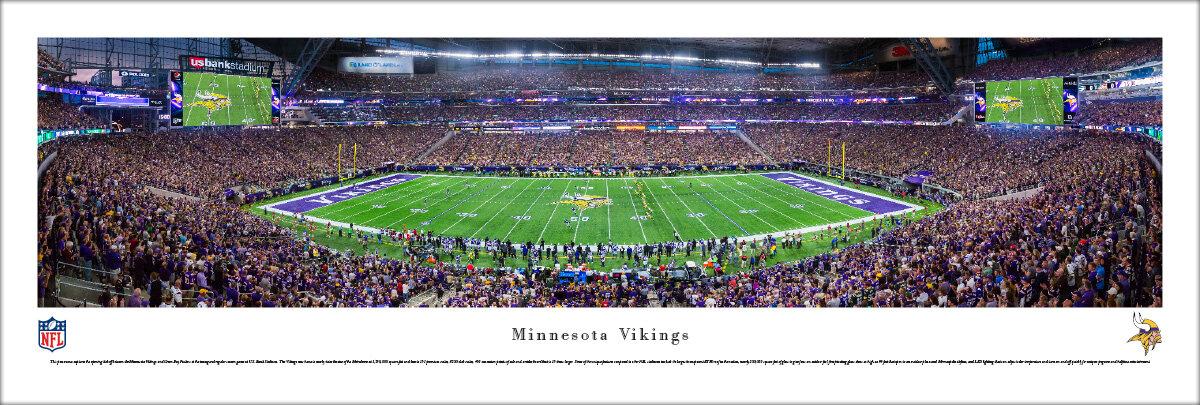 Blakewaypanoramas Nfl Minnesota Vikings By James Blakeway Photograph Print On Paper Wayfair
