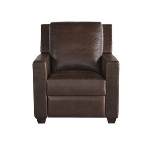 Mandel Leather Recliner