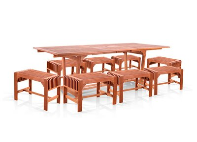 Amabel 9 Piece Dining Set by Beachcrest Home Fresh