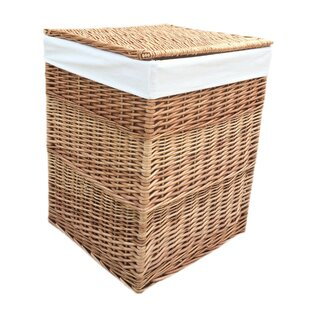 Square Lining Wicker Laundry Bin By August Grove
