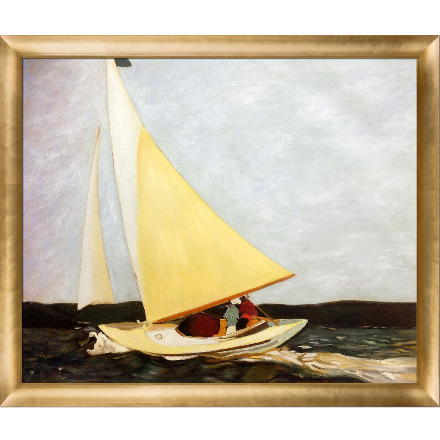 La Pastiche \'Sailing, 1911\' by Edward Hopper Framed Painting Print ...