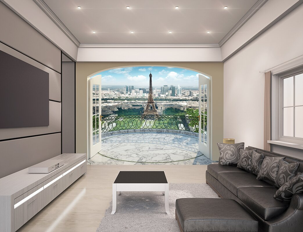 Eiffel Tower In Paris Wall Mural Part 48