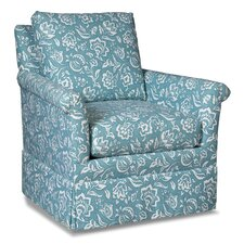 Loose Pillow Back Swivel Armchair by Fairfield Chair