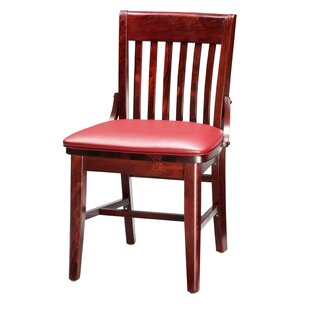 Amoroso Beechwood School House Seat Upholstered Dining Chair Red Barrel Studio