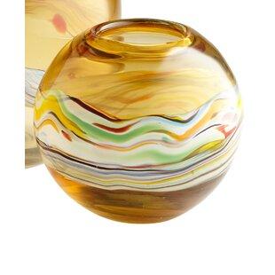 Glass Vase Amber Decor Wayfair