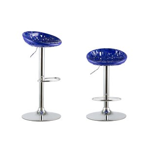 Adjustable Height Swivel Bar Stools (Set of 2) Attraction Design Home