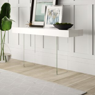 Mcduffy Console Table with Tempered Glass