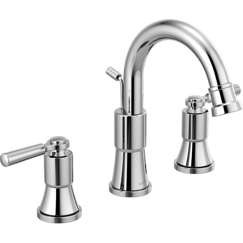 Bathroom Faucets.Peerless Faucets Westchester Widespread Bathroom Faucet With Drain