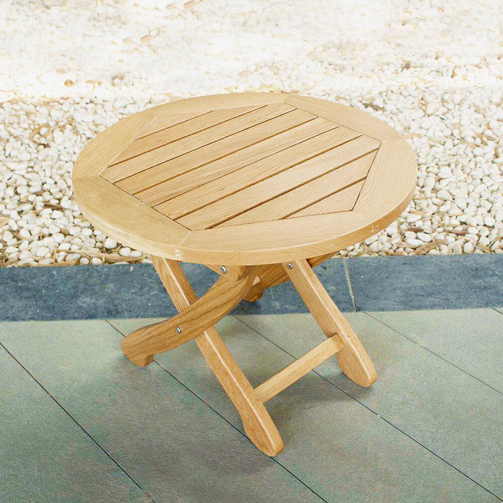 Millwood Pines Rumfelt Folding Solid Wood Side Table Wayfair