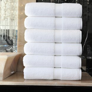 Toscano 6 Piece Turkish Cotton Bath Towel Set (Set of 6)