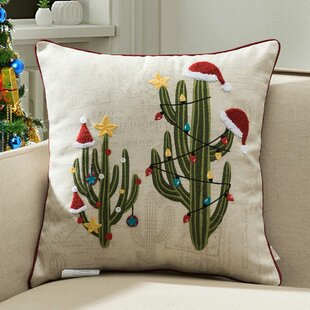 Herod Holiday Cactus Indoor/Outdoor Throw Pillow