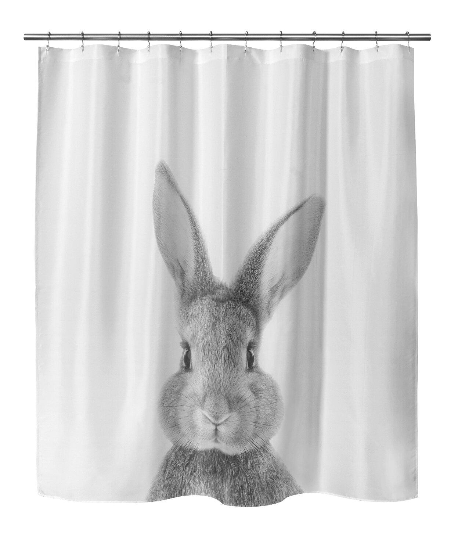 East Urban Home Bunny Shower Curtain