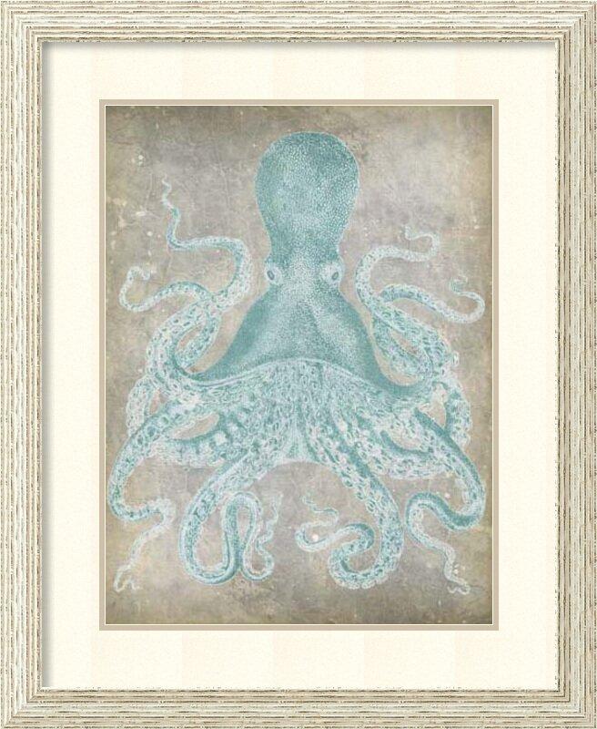 Spa Octopus I Framed Wall Art