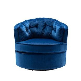 Bensley Swivel Barrel Chair by Everly Quinn