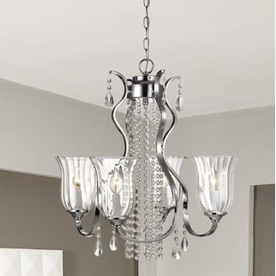 Astoria Grand Balis 4-Light Shaded Chandelier