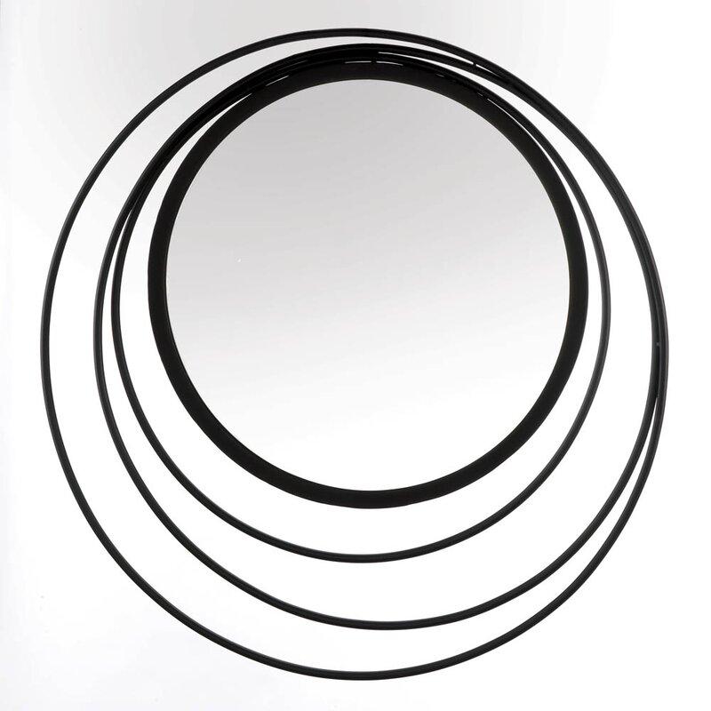 Geometric Wall Decorations - Chassidy Three Ring Modern Wall Mirror