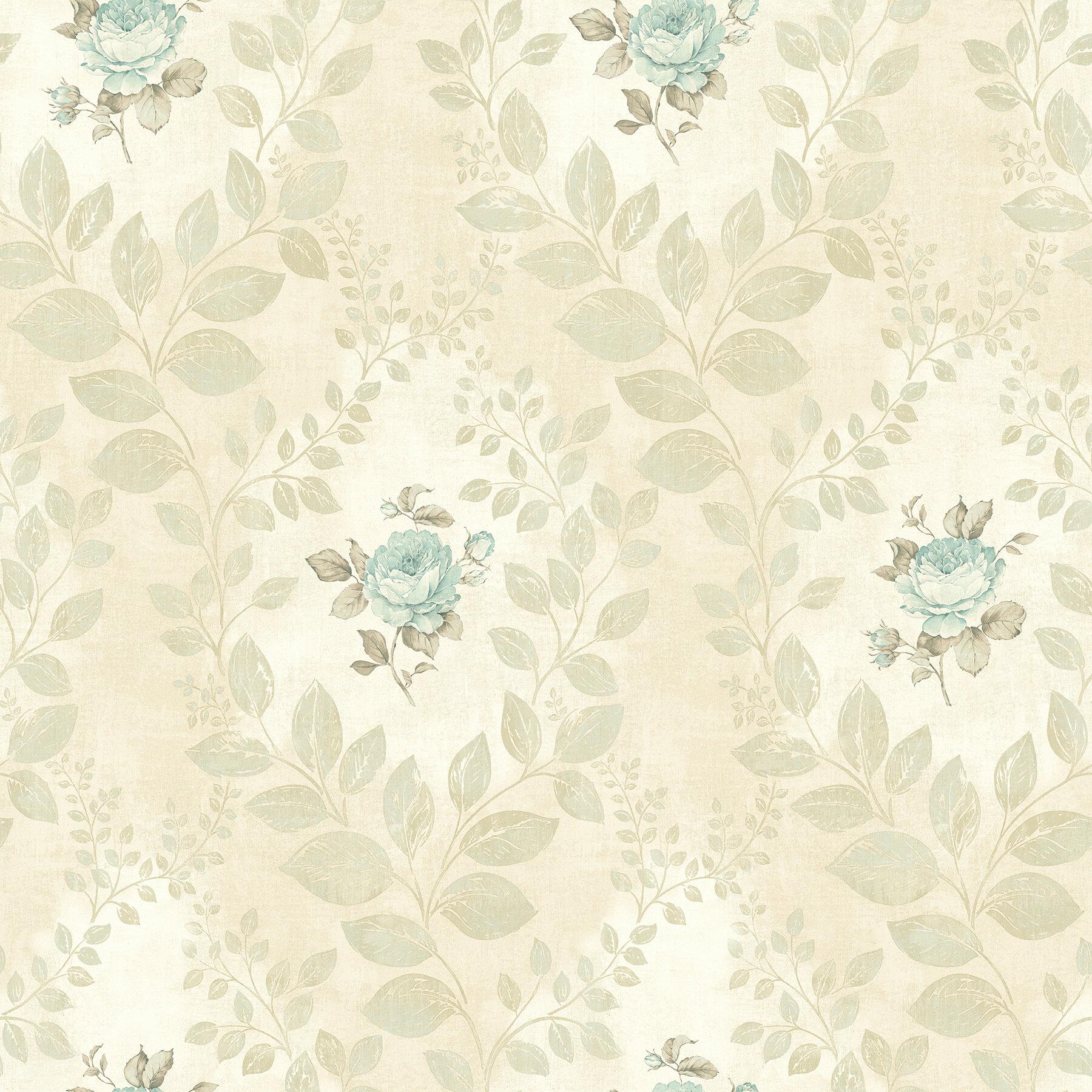 August Grove Caillat Rose 33 X 20 5 Floral Wallpaper Wayfair