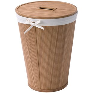 Creative Bath East Hampton Round Bamboo Hamper