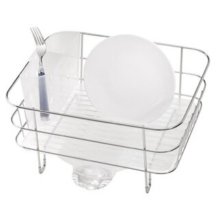 simplehuman Compact Wire Frame Dish Rack,..