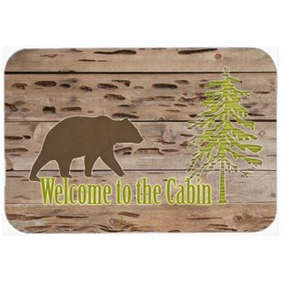 Welcome to the Cabin Glass Cutting Board By Caroline's Treasures